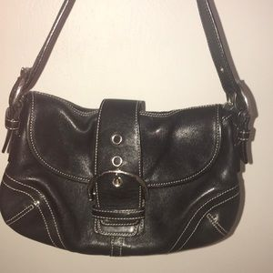 Coach Black Buckle Purse